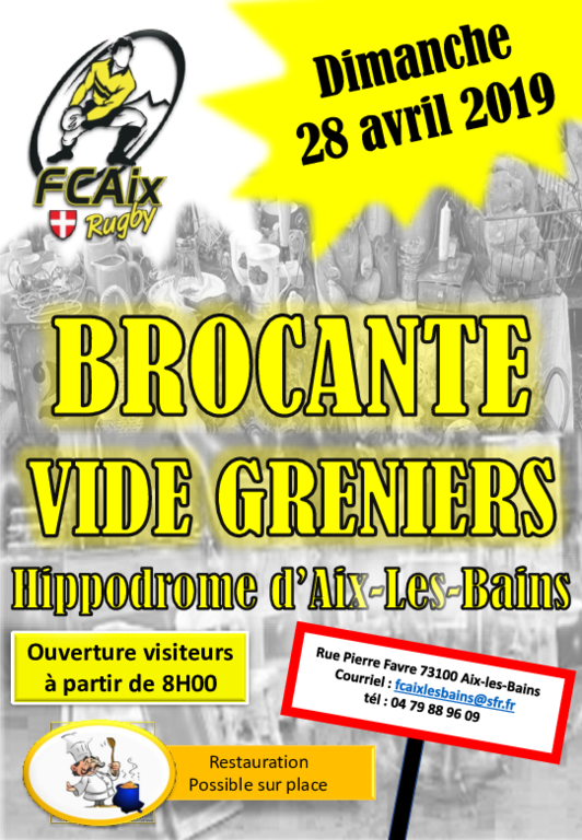 brocante vide grenier fcaix rugby. Black Bedroom Furniture Sets. Home Design Ideas